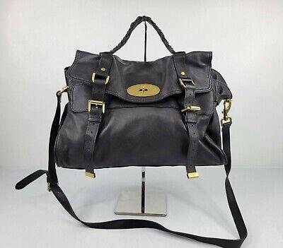 Mulberry Alexa Black Leather Crossbody Bag