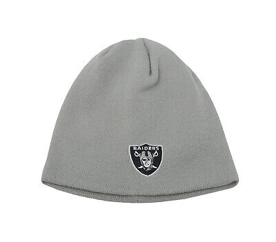 6cfeb5a9bcddb REEBOK Beanie Men Women Unsex Hat Cap Oakland Raiders Gray