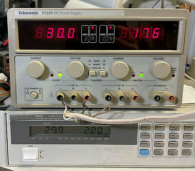 Tektronix Ps280 Variable Dc Power Supply Triple Output- Load Tested