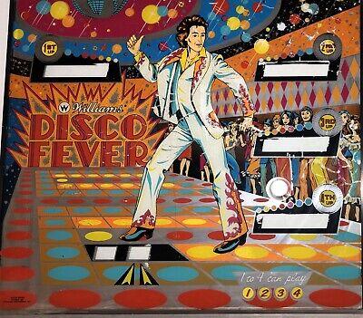 Williams Disco Fever Pinball Machine Original Backglass