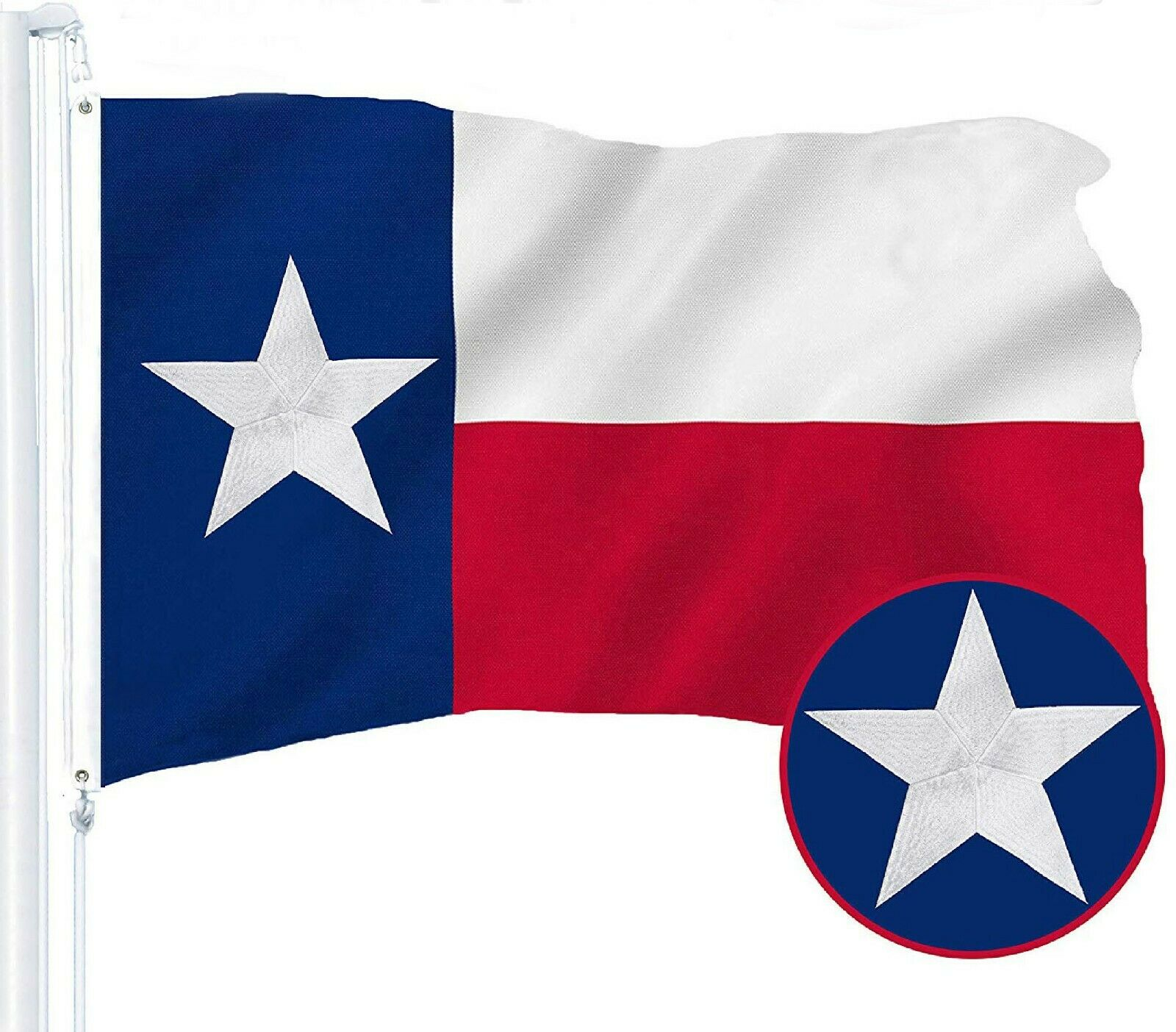 3x5 embroidered state of texas 280d nylon