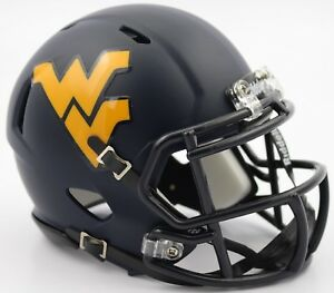 WEST VIRGINIA MOUNTAINEERS NCAA Riddell SPEED Authentic MINI Football Helmet WVU
