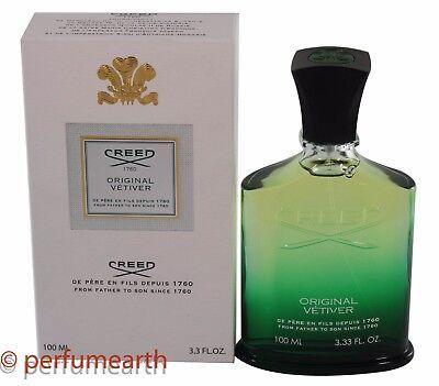 Creed Original Vetiver Eau De Perfume 3 4 3 3 Oz  Spray Millesime New In Box