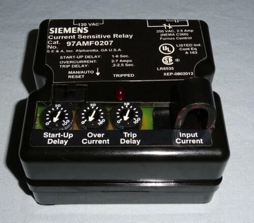 Siemens 97AMF0207 Current Sensitive Relay NEW