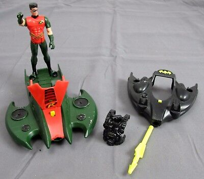1992 Kenner Robin Action Figure w/ Jet Foil & Batman Deep Dive Sub & Chest piece](Batman Chest Piece)