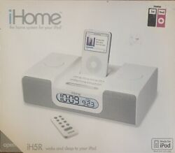 iHome iH5R Alarm Clock Radio Apple iPod Home System