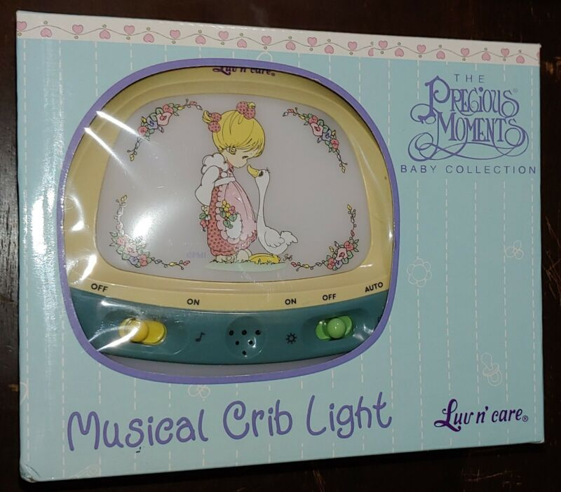 Precious Moments Musical Crib Light NEW IN BOX Girl Goose Vintage
