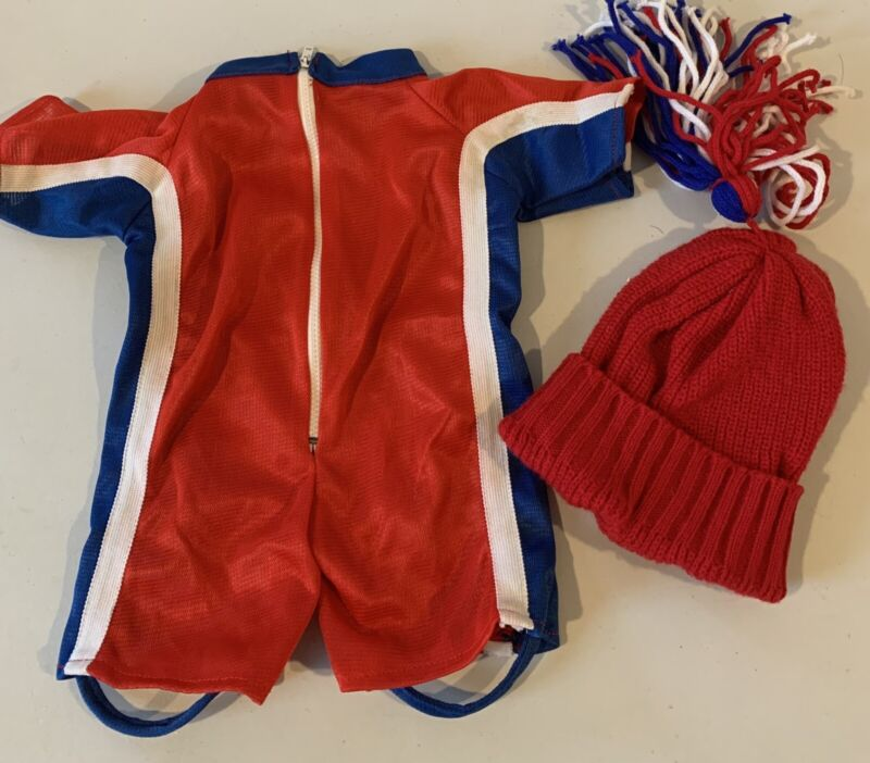 """Snoopy vintage USA Olympics skiing outfit for 18"""" Snoopy, missing Vest"""