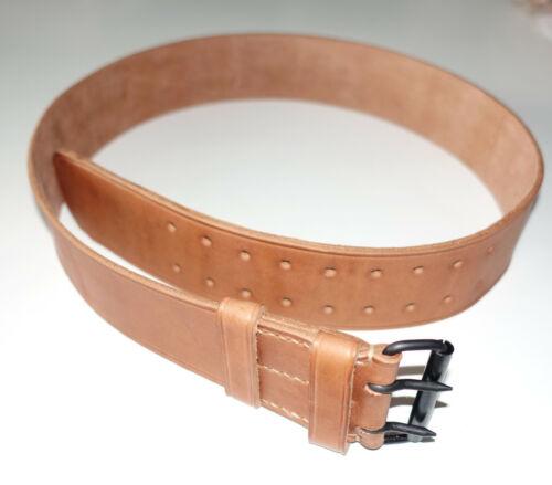 FRENCH ARMY WW1 era repro leather equipment belt Czech made 115cm