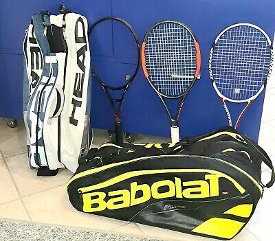 Affare 2 borse tennis+ 4 racchette tennis usate