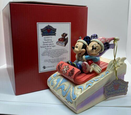 MICKEY & MINNIE SLEDDING SWEETHEARTS Figure Disney Traditions Jim Shore NEW 2021