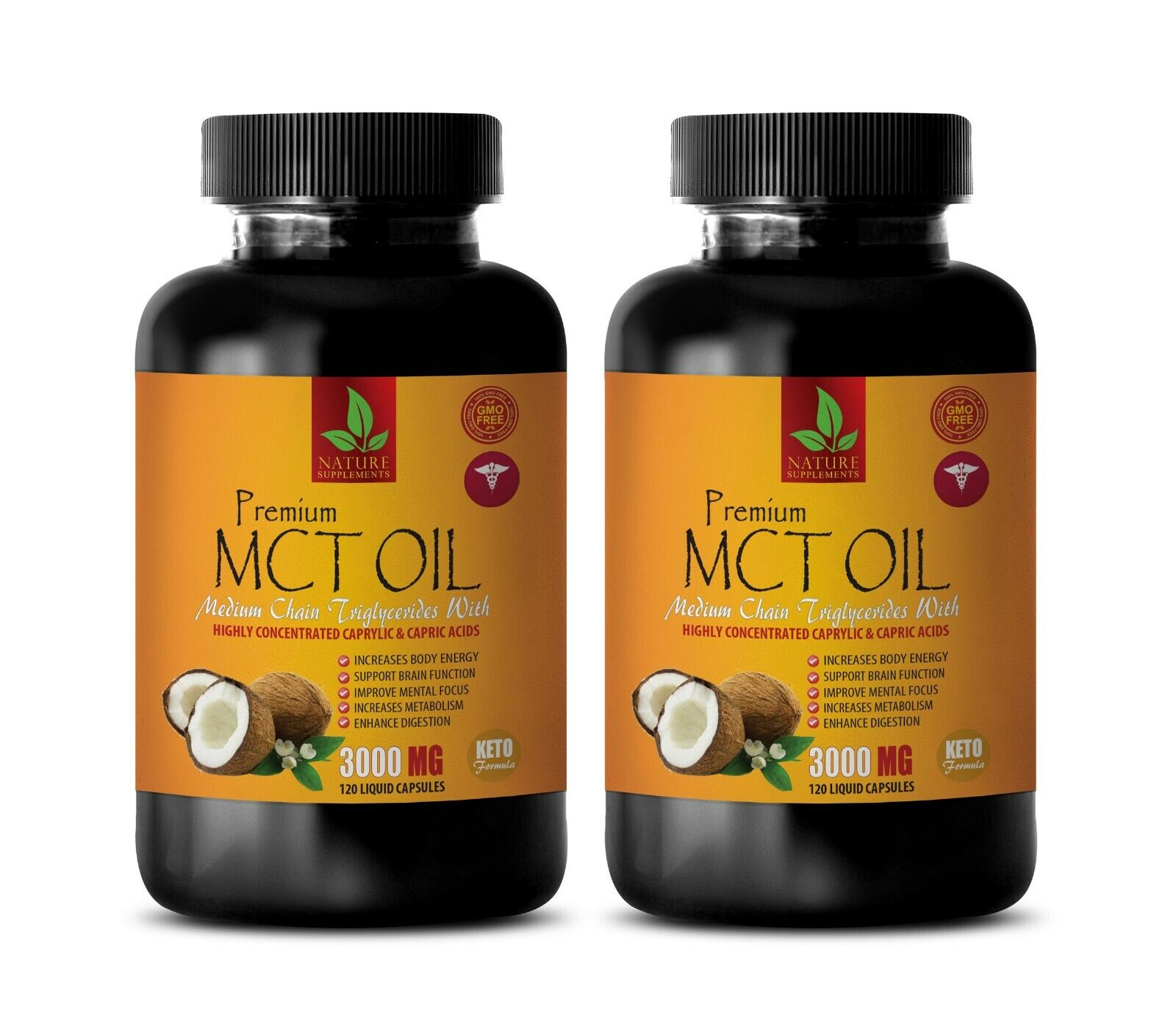 cognitive enhancer - PURE MCT OIL 3000MG - mct oil hemp 2B