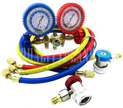 R12 R22 R502 R134a Manifold Gauge Hvac Ac Refrigeration Charging W 600psi Hose