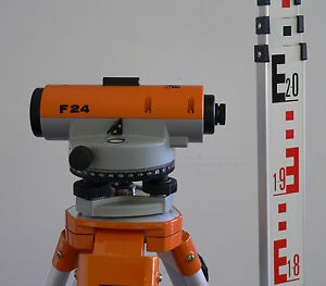 Nedo-F24-Automatic-Dumpy-Level-with-Tripod-and-Staff-24x-Magnification