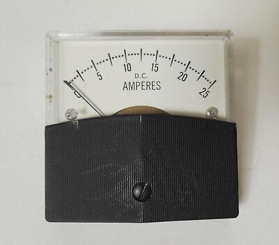 Vintage Parker Dc Amperes Meter Steampunk Frankenstein Lab
