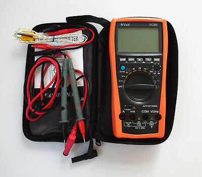 Vc99 3 67 Auto Range Digital Multimeter Meter Ac Dc Ohm Hz Fluke Lead Dmm New