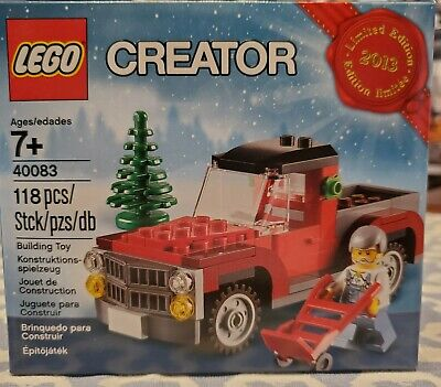 New Lego Creator Limited Edition 2013 (40083) Building Toy Christmas Tree, Truck