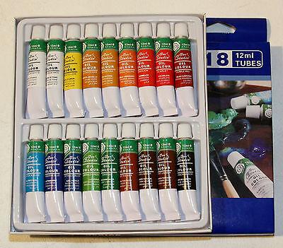 (4,16€/100ml) feine Ölfarbe hochwertiges Farbset 18 Tuben je 12ml, original MAGI