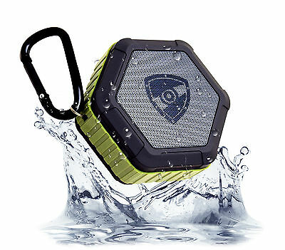 ZETTAGUARD Bluetooth IP67 Waterproof Shower Rechargeable Speaker Outdoor Mic