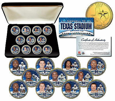 DALLAS COWBOYS Texas Stadium Farewell 11-Coin Set Gold State Quarters w/Gift Box](Cowboy Gifts)
