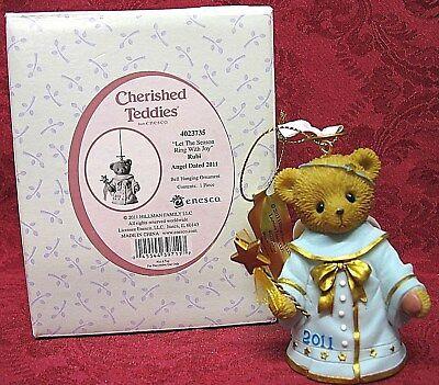 CHERISHED TEDDIES 2011~DATED ORNAMENT BELL~RUBI~ITEM # 4023735