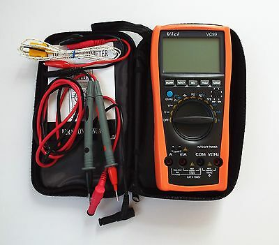 Vc996999 Lcd Multimeter Digital Tester Ac Dc Ohm Voltmeter Auto Ranging Ammeter