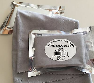 Lg Deluxe Polishing/Cleaning Cloth Jewelry,Watches,Guitar,Violin,15.75x15.75 USA