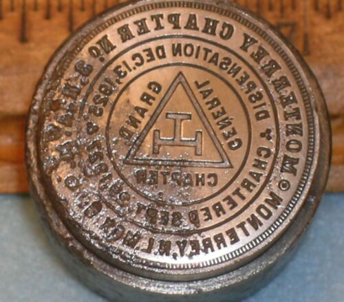 1919 MONTERREY NL MEXICO Chapter 3 RAM MASONIC MEDAL Stamping Die * MC Lilley