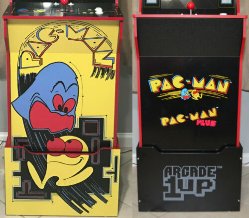 Arcade1up Cabinet Riser Graphics - PacMan Pac-Man Graphic Sticker Decal Set