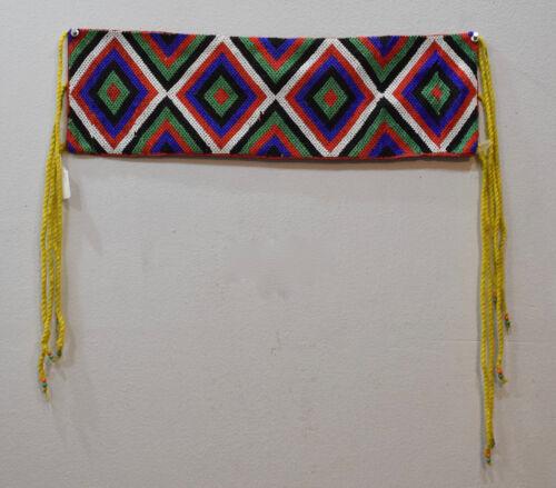 African Zulu Old Beaded Waist Apron Panel