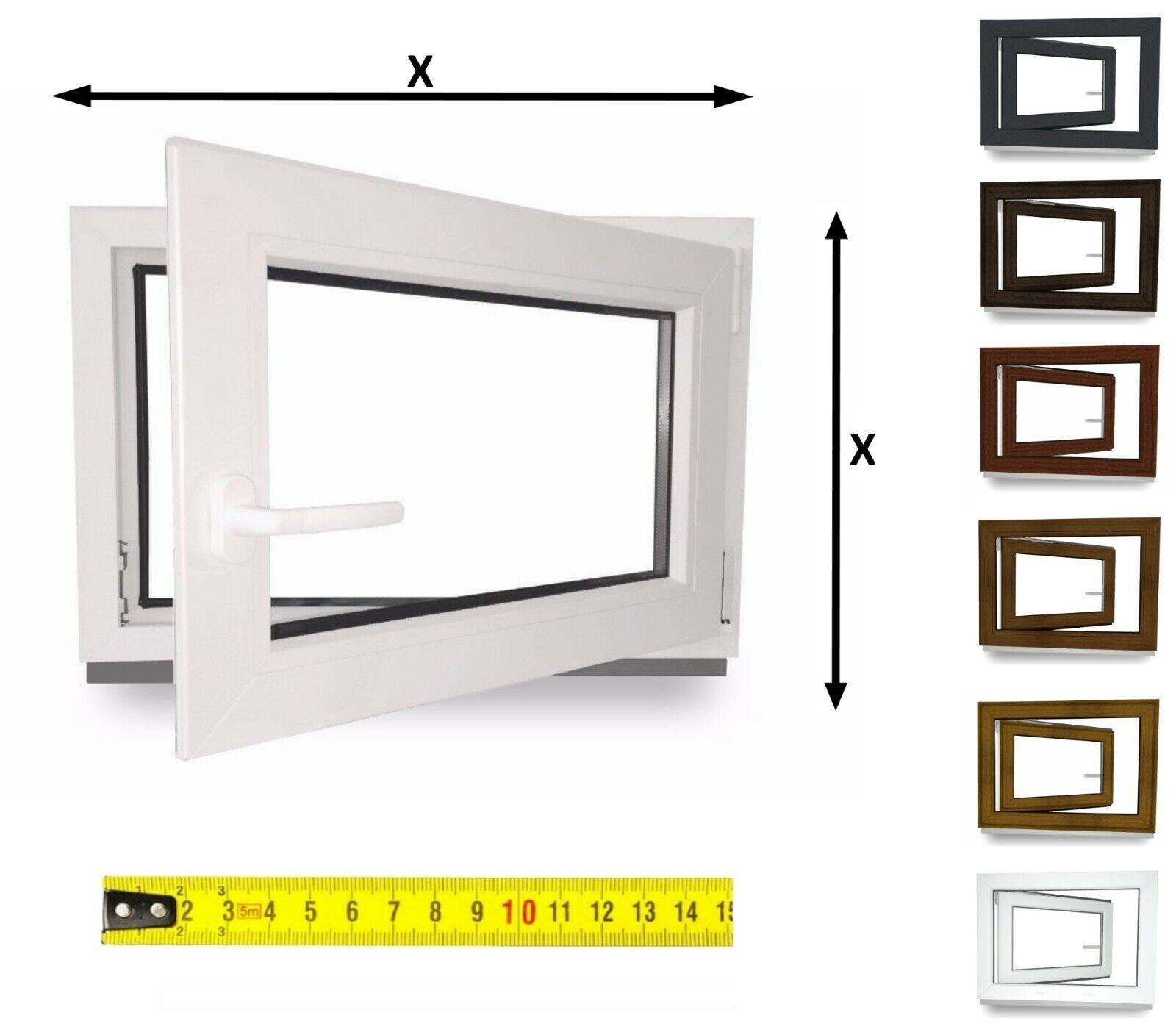 Kellerfenster innen weiß außen anthrazit 2-fach Verglasung 58 mm auch Sondermaße