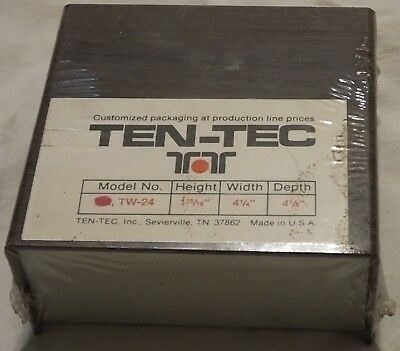 Vintage Ten-tec Aluminum Project Box Enclosure Case Electronic Diy - Small