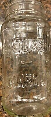 Mason Jar Ounces (Vintage 20oz. Atlas Measuring Mason Jar 1/4 Gallon Clear Square Glass)