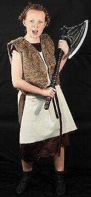 Mädchen Wikinger Warrior-Celt Dunkel Age Celtic World Büchertag Kostüm Jedes ()