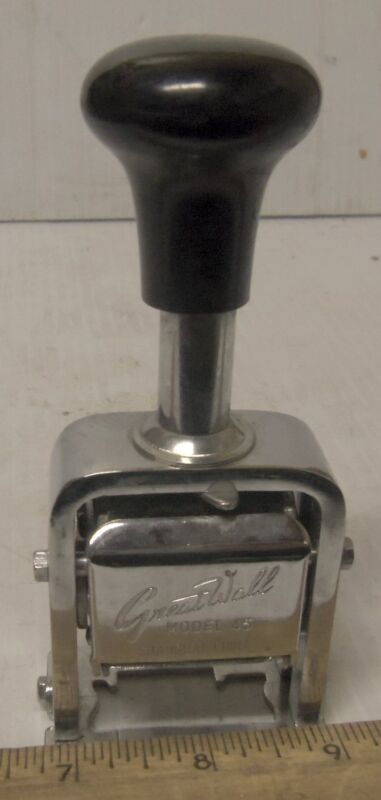Great Wall - Six Wheel Numbering Machine / Stamp - Model 45