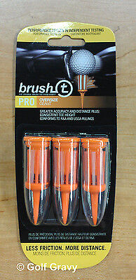 Brush-t Golf Tees Oversize - 1 pack of 3 brush tees - 2.4