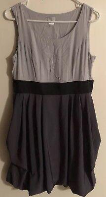 H&M Black, Grey, Light Grey Sz 12 Dress