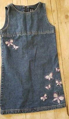 Gap Girls Jean Dress Large Sleeveless Butterfly  (Girls Butterfly Dress)