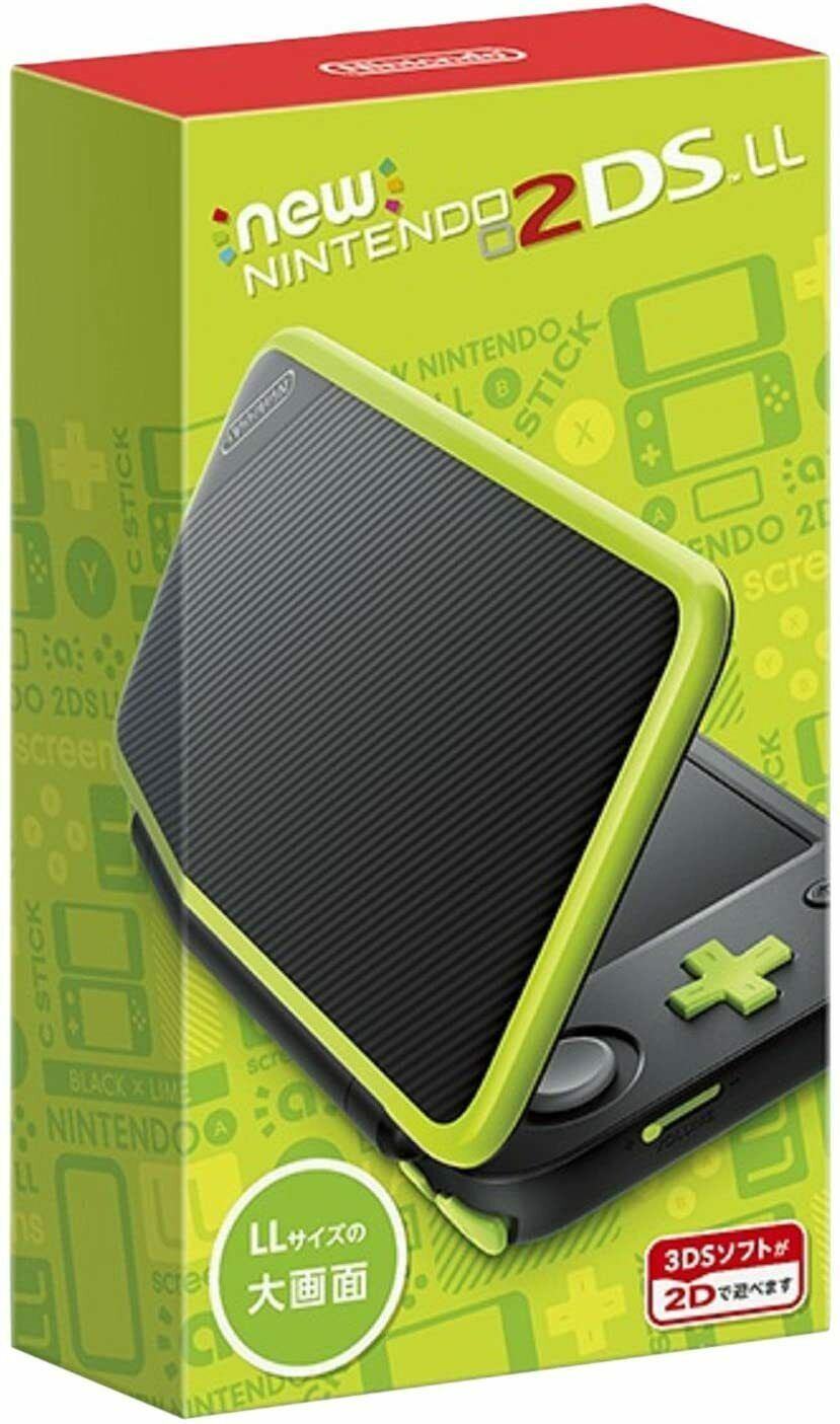 Nintendo 2DS LL Console System Black x Lime Japanese game F/S