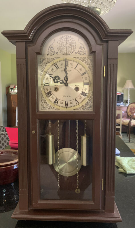 "RARE Tenuous Fugit Grandfather Clock 28"" Tall 15"" Wide"