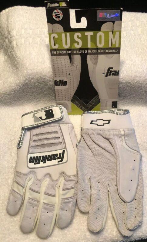 Franklin CFX Pro Classic Adult Small Batting Gloves Chevrolet Logo White