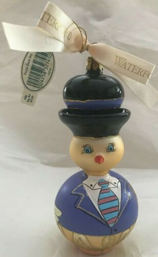 Waterford Purple Duck Boy Christmas Ornament