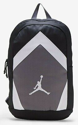 "Nike $50 JORDAN Diamond Jumpman Backpack 15"" Laptop BAG 9A0262-023 Black Gray"