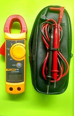 Fluke 322 Clamp Meter With Leads And Case. Used.