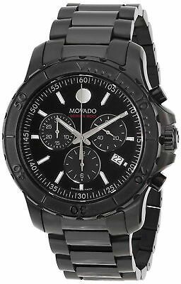 NEW Movado Series 800 Chronograph Dial Black IP PVD 2600119 Mens Swiss Watch