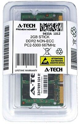 A-Tech 2GB PC2-5300 Laptop SODIMM DDR2 667 MHz 200pin Notebook Memory RAM 1x 2G 200 Pin Sodimm Notebook Memory