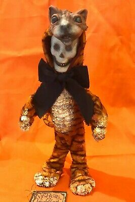Bethany Lowe Vergie Lightfoot Halloween Skeleton in a Tiger Costume —Retired
