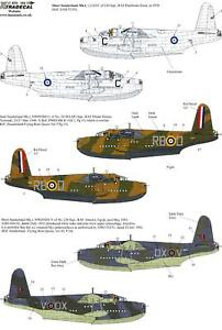 Xtra Decals 1/72 SHORT SUNDERLAND Mk.I British Flying Boat