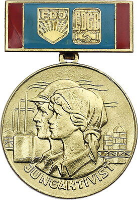 DDR B.2387 Medaille Jungaktivist FDJ-FDGB