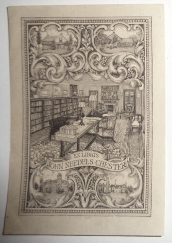John Needels Chester Ex Libris Bookplate, by A.N. Macdonald - early 1900s